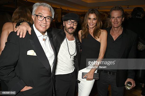 Sir David Tang Jeremy Piven Cindy Crawford and Rande Gerber attend the London launch of Casamigos Tequila and Cindy Crawford's book 'Becoming' hosted...