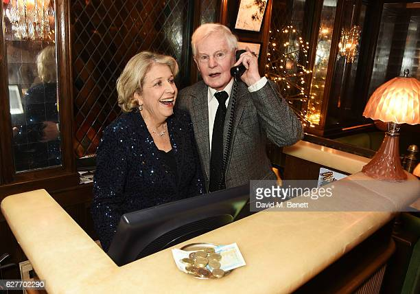Sir Derek Jacobi and Anne Reid attend One Night Only at The Ivy in aid of Acting for Others at The Ivy on December 4 2016 in London England