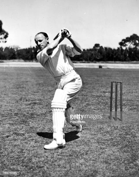 Sir Don Bradman the famous Australia cricketer playing cricket 1946