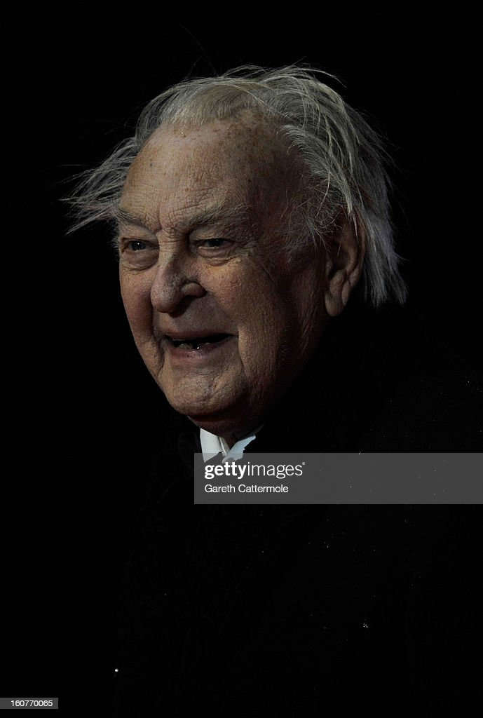 Sir Donald Sinden attends the UK Premiere of 'Run For Your Wife' at Odeon Leicester Square on February 5 2013 in London England