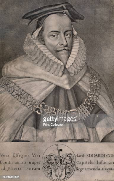 Sir Edward Coke English lawyer writer and politician c1666 From A Collection of Engraved Portraits Exhibited by the Late James Anderson Rose at the...