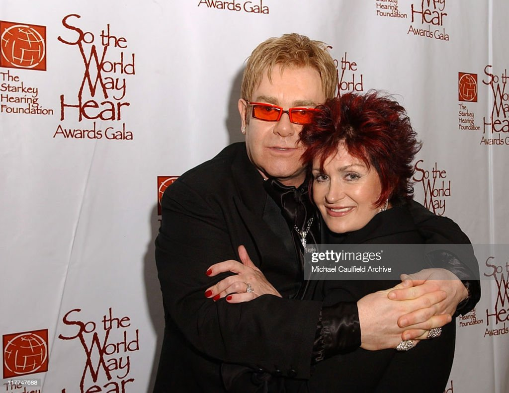 Sir Elton John and Sharon Osbourne during 'So The World May Hear' Awards Gala All Access at Rivercentre in St Paul Minnesota United States