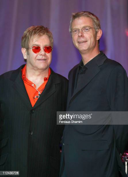 Sir Elton John and Stephen Daldry during Photocall For The Opening Of 'Billy Elliot The Musical' at Victoria Palace Theatre in London United Kingdom