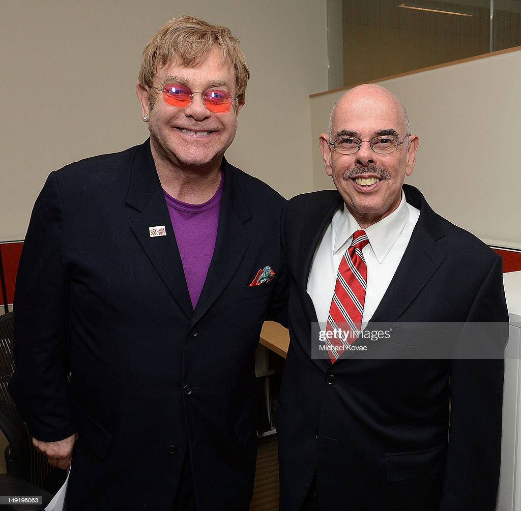 Sir <a gi-track='captionPersonalityLinkClicked' href=/galleries/search?phrase=Elton+John&family=editorial&specificpeople=171369 ng-click='$event.stopPropagation()'>Elton John</a> (L) and U.S. Congressman <a gi-track='captionPersonalityLinkClicked' href=/galleries/search?phrase=Henry+Waxman&family=editorial&specificpeople=217361 ng-click='$event.stopPropagation()'>Henry Waxman</a> (D-CA) attend the Syringe Access Fund Reception at Open Society Foundations on July 24, 2012 in Washington, DC.