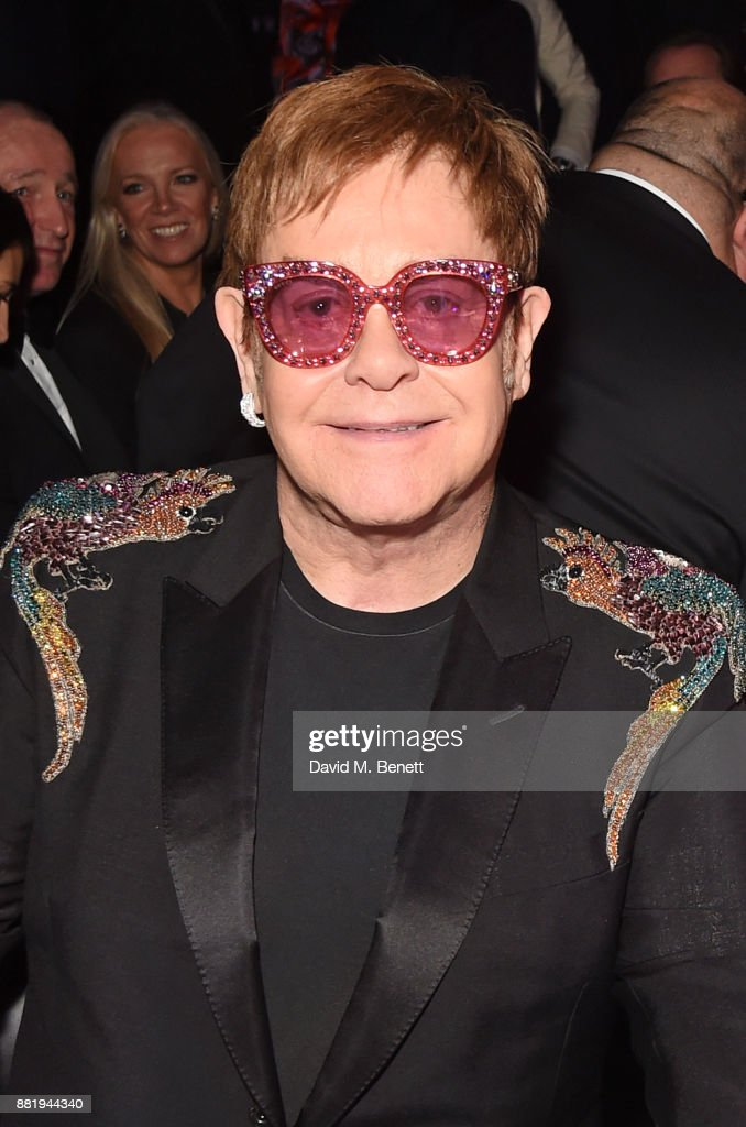 Sir Elton John attends CLUB LOVE for the Elton John AIDS Foundation in association with BVLGARI on November 29, 2017 in London, England.