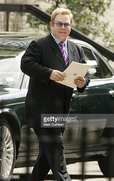 Sir Elton John Attends The 10Th Anniversary Memorial Service For Diana The Princess Of Wales At The Guards Chapel In London