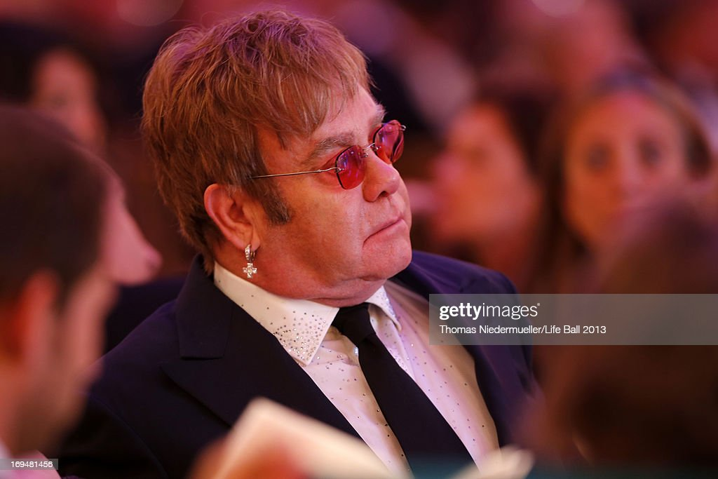Sir <a gi-track='captionPersonalityLinkClicked' href=/galleries/search?phrase=Elton+John&family=editorial&specificpeople=171369 ng-click='$event.stopPropagation()'>Elton John</a> attends the 'AIDS Solidarity Gala 2013' at Hofburg Vienna on May 25, 2013 in Vienna, Austria.