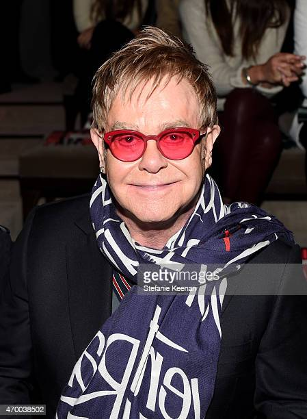 Sir Elton John attends the Burberry 'London in Los Angeles' event at Griffith Observatory on April 16 2015 in Los Angeles California