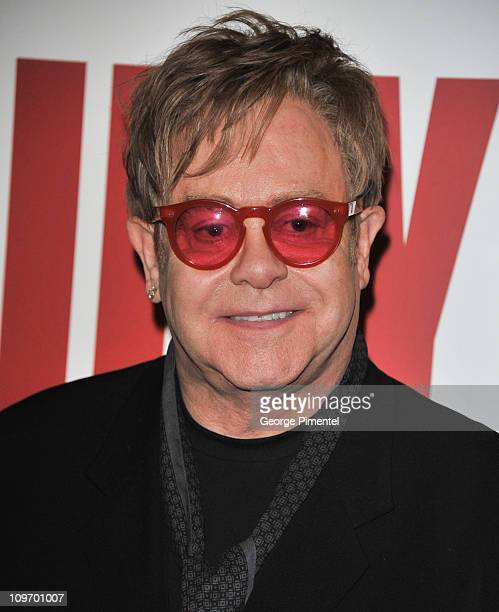 Sir Elton John attends the Canadian Premiere of Billy Elliot The Musical at the Canon Theatre on March 1 2011 in Toronto Canada