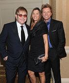 Sir Elton John Dorothea Hurley and Jon Bon Jovi attend the 10th Annual Elton John AIDS Foundation's 'An Enduring Vision' benefit at Cipriani Wall...