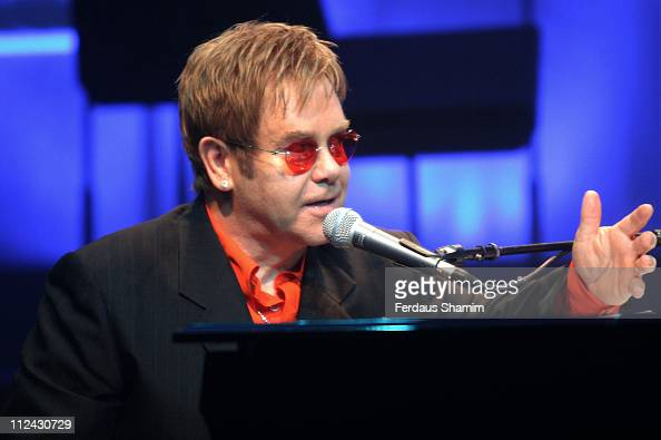 Sir Elton John during Photocall For The Opening Of 'Billy Elliot The Musical' at Victoria Palace Theatre in London United Kingdom