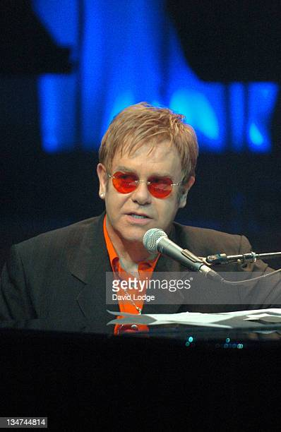 Sir Elton John during The Opening of 'Billy Elliot The Musical' Photocall at Victoria Palace Theatre in London Great Britain