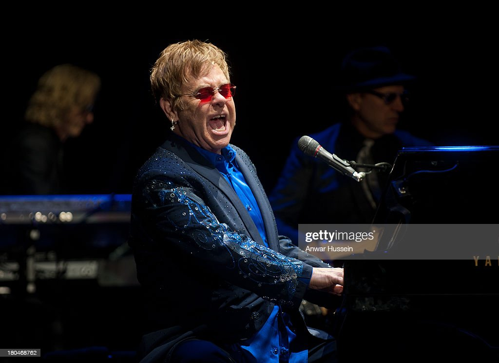Sir Elton John performs in a rare festival appearance on Day 4 of Bestival at Robin Hill Country Park on September 8, 2013 in Newport, Isle of Wight.