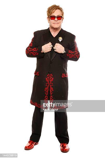 Sir Elton John poses for a portrait during the Revlon concert for the Rainforest Fund at Carnegie Hall on April 3 2012 in New York City