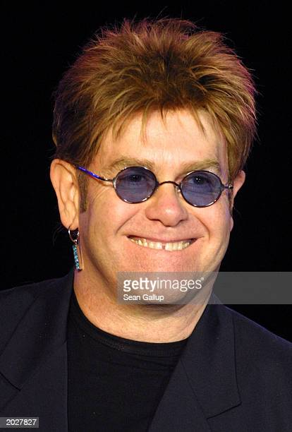 Sir Elton John smiles May 24 2003 at the 11th annual Life Ball charity ball in Vienna Austria during which he received for money for his Elton John...
