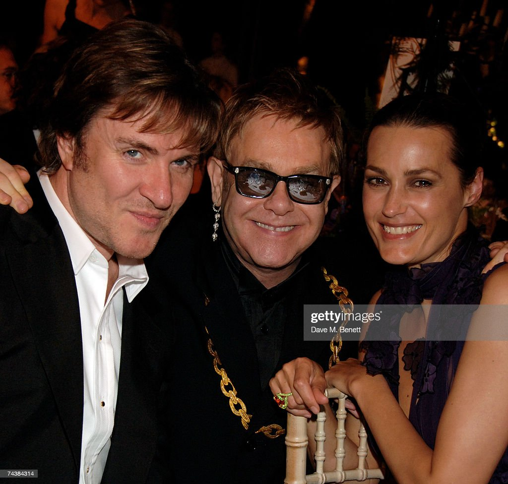 Sir Elton John (C) with Simon and Yasmin Le Bon attend the Raisa Gorbachev Foundation Party at Stud House, Hampton Court Palace on June 2, 2007 in Richmond upon Thames, London, England. The night is in aid of the Raisa Gorbachev Foundation - an international fund fighting child cancer.