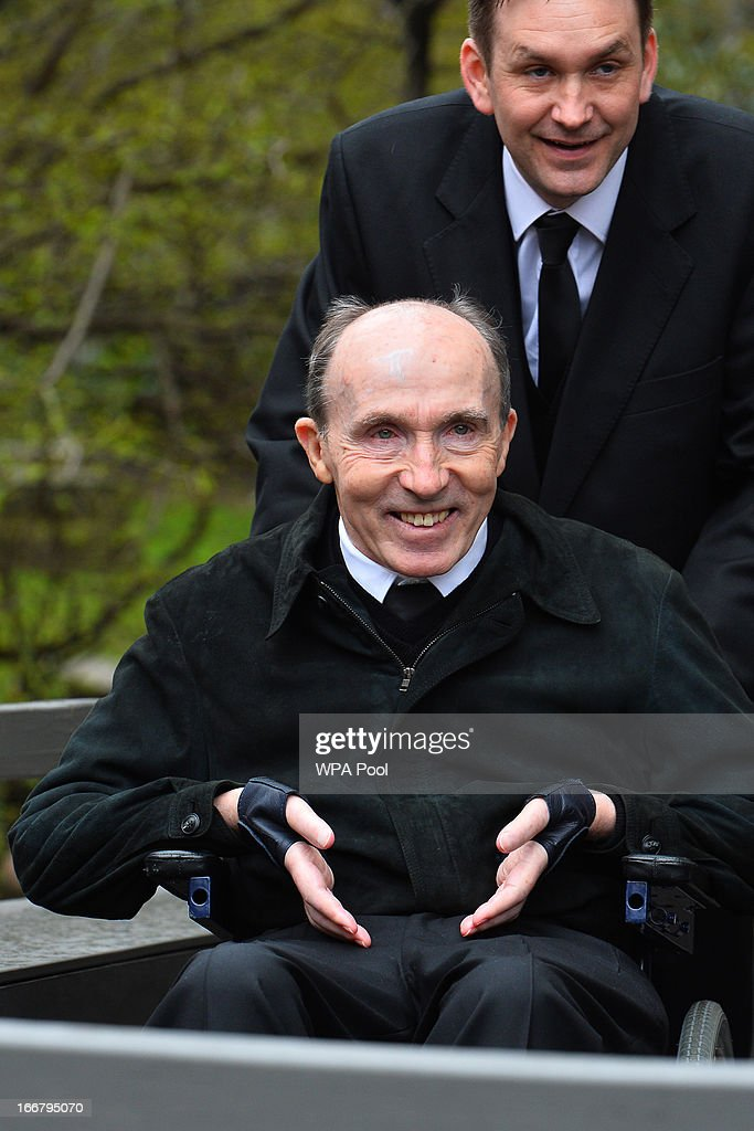 Sir Frank Williams arrives for the funeral service of Baroness Margaret Thatcher, at St Paul's Cathedral, on April 17, 2013 in London, England. Dignitaries from around the world today join Queen Elizabeth II and Prince Philip, Duke of Edinburgh as the United Kingdom pays tribute to former Prime Minister Baroness Thatcher during a Ceremonial funeral with military honours at St Paul's Cathedral. Lady Thatcher, who died last week, was the first British female Prime Minister and served from 1979 to 1990