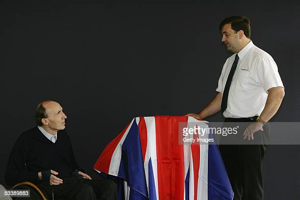 Sir Frank Williams Team Principal of Williams F1 and Tim Routsis Managing Director of Cosworth attend the official inauguration of the 2006 engine...