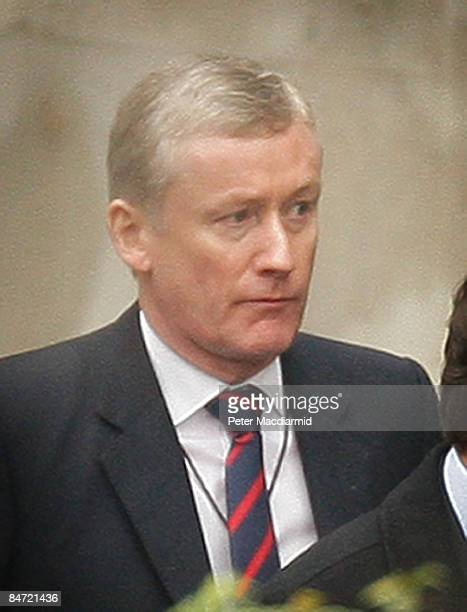 Sir Fred Goodwin the former Chief Executive of the Royal Bank of Scotland leaves Parliament on February 10 2009 in London England Former bosses of...