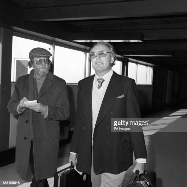 Sir Freddie Laker at Heathrow Airport upon his return to London from los Angeles and two days of talks about American backing for his proposed...