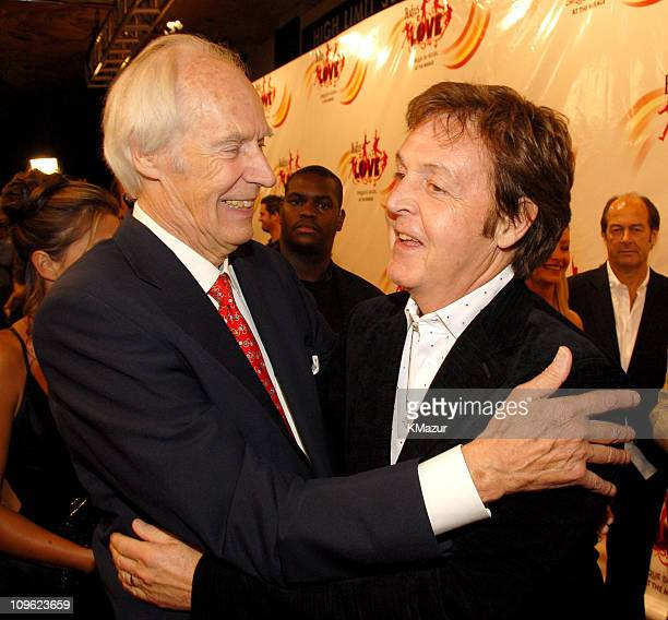 Sir George Martin and Sir Paul McCartney during 'LOVE' Cirque du Soleil Celebrates the Musical Legacy of The Beatles Red Carpet at The Mirage Hotel...