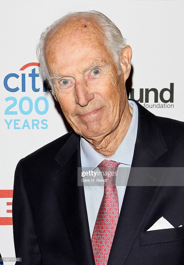 Sir George Martin arrives at the EMI Music Sound Foundation fundraiser at Somerset House on September 24, 2012 in London, England.