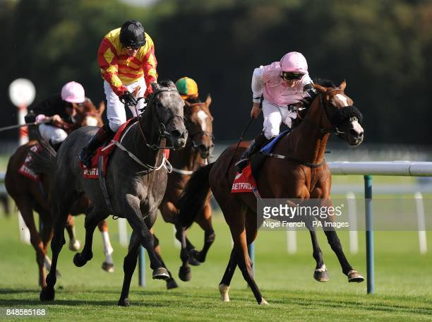 Sir Graham Wade goes onto win The Betfred Mobile Lotto Old Borough Cup ahead of Tropical Beat Nicky Mackay in second during the Betfred Sprint Cup...