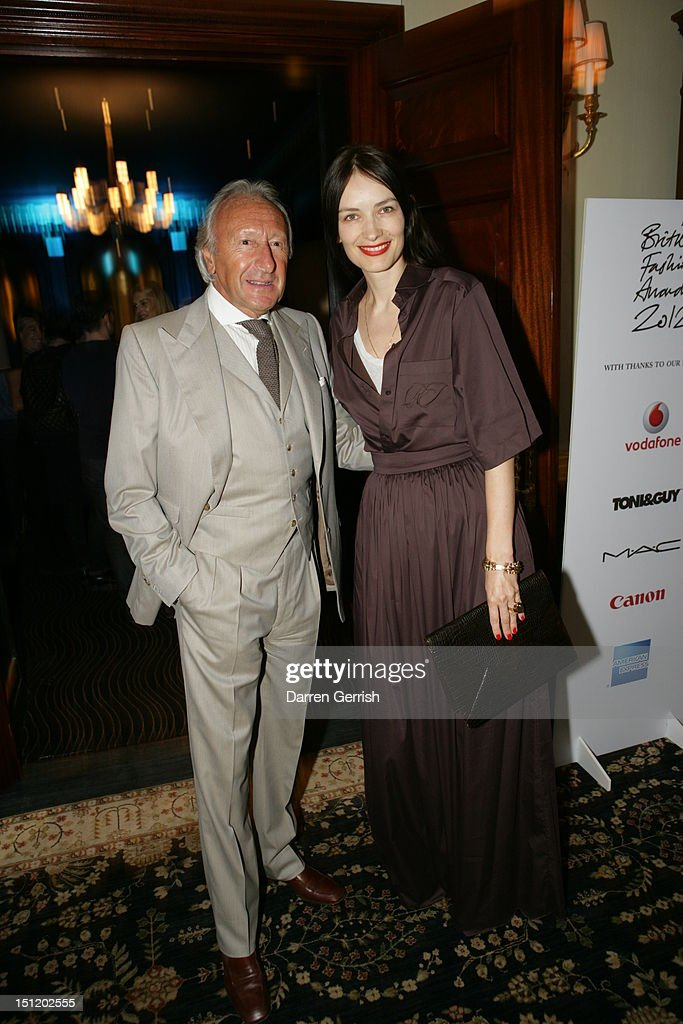 Sir Harold Tillman and Roksanda Ilincic attends the nominees party for The British Fashion Awards on September 3, 2012 in London, England.