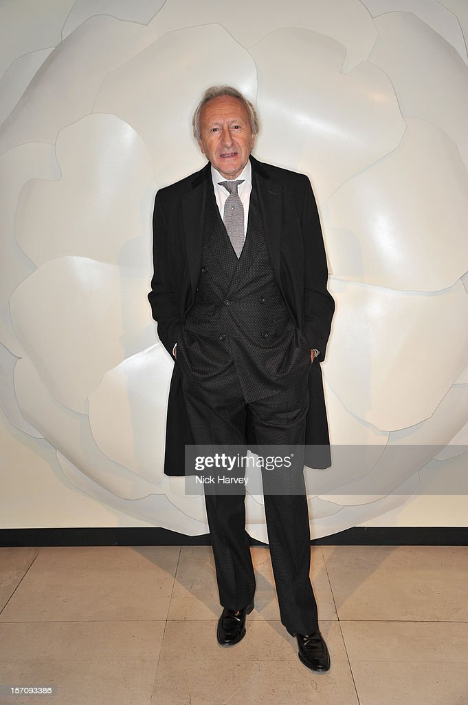 Sir Harold Tillman attends the VIP view of Valentino: Master of Couture at Embankment Gallery on November 28, 2012 in London, England.