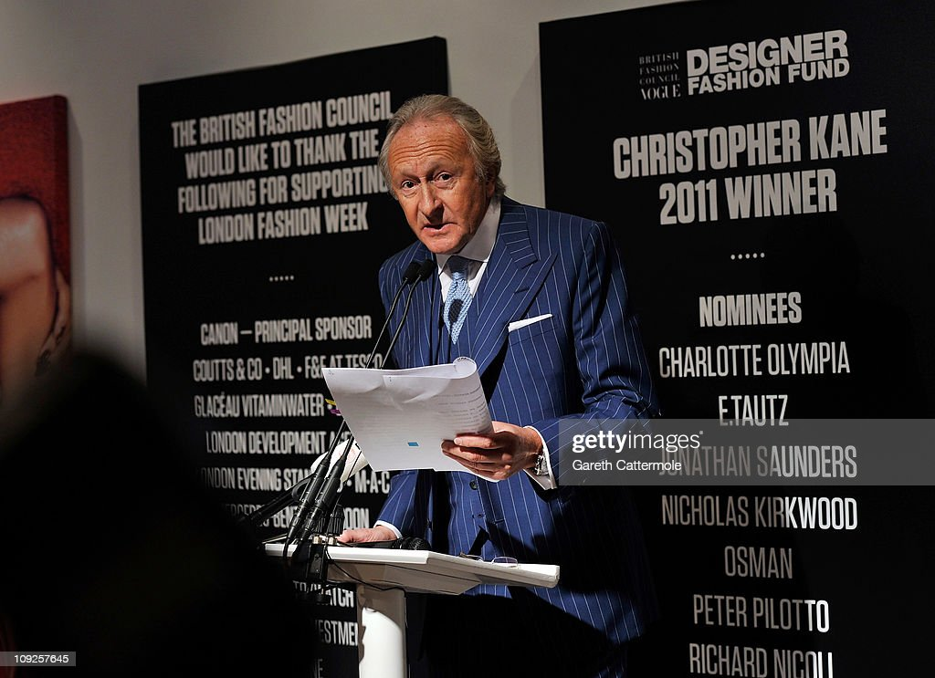 Sir Harold Tillman officially opens London Fashion Week Autumn/Winter 2011 at Somerset House on February 18, 2011 in London, England.