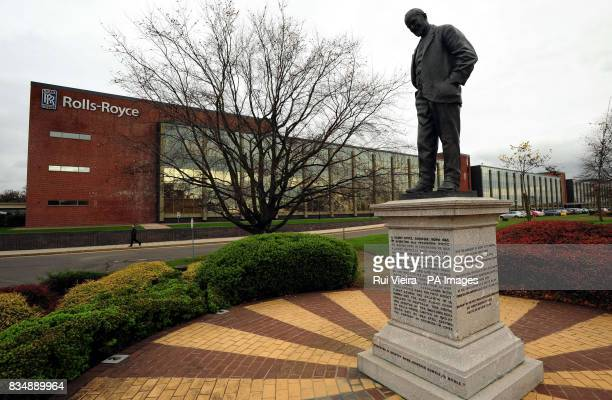Sir Henry Royce statue outside Rolls Royce Head Office in Moor Lane in Derby after it was announced that the firm plans to cut up to 2000 jobs...