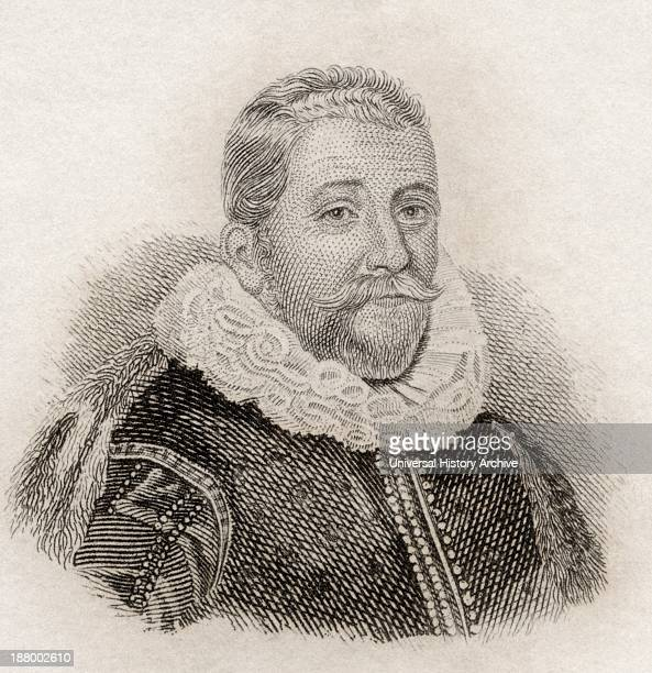 Sir Henry Wotton 1568 To 1639 English Author And Diplomat From Crabb's Historical Dictionary Published 1825
