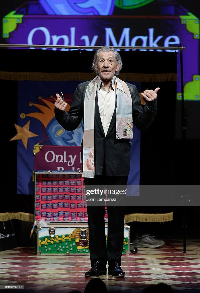 Sir Ian McKellan attends the 14th annual Make Believe On Broadway gala at The Bernard B. Jacobs Theatre on November 4, 2013 in New York City.