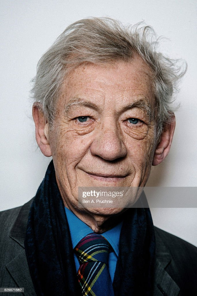 Sir Ian McKellan poses for photographs ahead of a screening of Richard III as part of BFI presents: Shakespeare on film at BFI Southbank on April 28, 2016 in London, England.