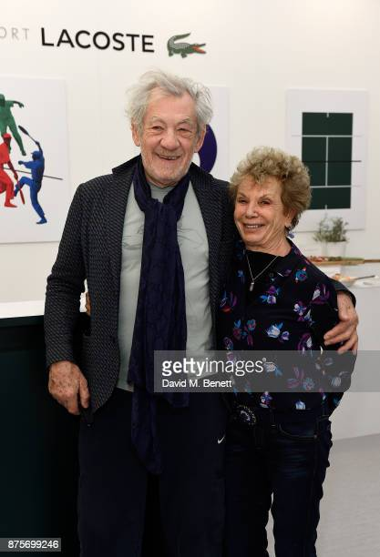 Sir Ian McKellen and Dena Hammerstein attend Lacoste VIP Lounge during 2017 ATP World Tour Semi Finals at The O2 Arena on November 18 2017 in London...