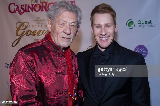 Sir Ian McKellen and Dustin Lance Black attend the 2017 Imperial Court Of New York Night Of A Thousand Gowns at Marriott Marquis Hotel on March 11...