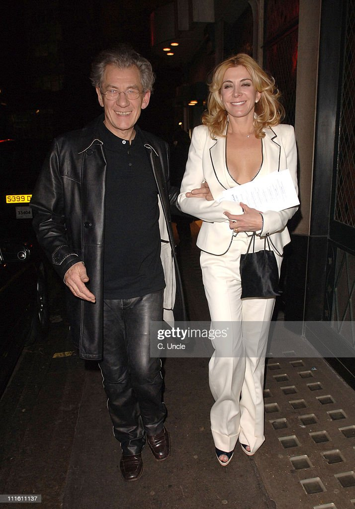 Sir Ian McKellen and Natasha Richardson during Celebrity Sightings at The Ivy in London January 30 2006 at The Ivy in London Great Britain