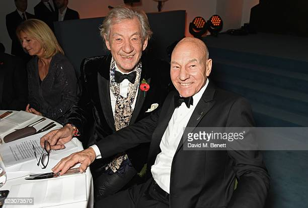 Sir Ian McKellen and Sir Patrick Stewart attend the 62nd London Evening Standard Theatre Awards recognising excellence from across the world of...