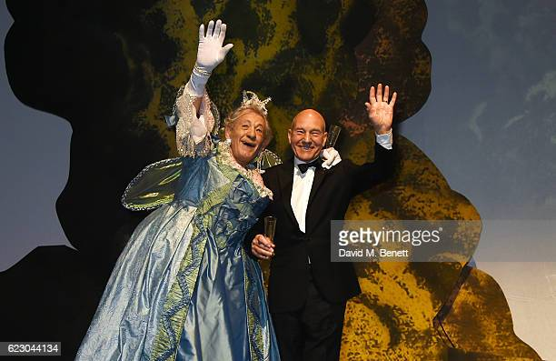 Sir Ian McKellen and Sir Patrick Stewart perform at the 62nd London Evening Standard Theatre Awards recognising excellence from across the world of...