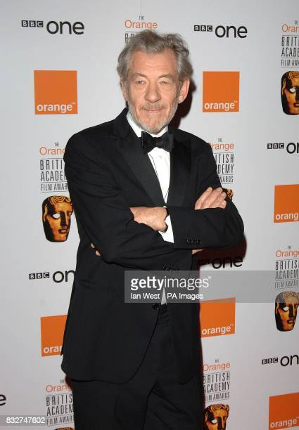 Sir Ian McKellen arrives for the 2007 Orange British Academy Film Awards at the Royal Opera House in Covent Garden central London
