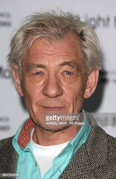 Sir Ian McKellen arrives for the First Light Movies premiere at the Odeon Leicester Square in central London