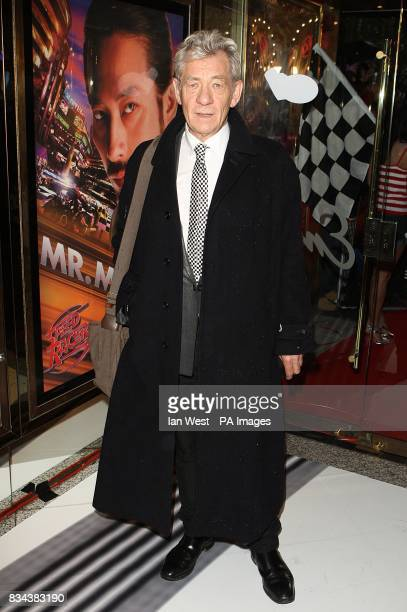 Sir Ian McKellen arrives for the UK premiere of Speed Racer at the Empire Leicester Square London WC2