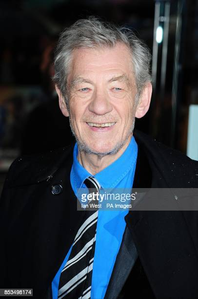 Sir Ian McKellen arriving at the XMen Days of Future Past UK premieree at The West End Odeon Leicester Square London