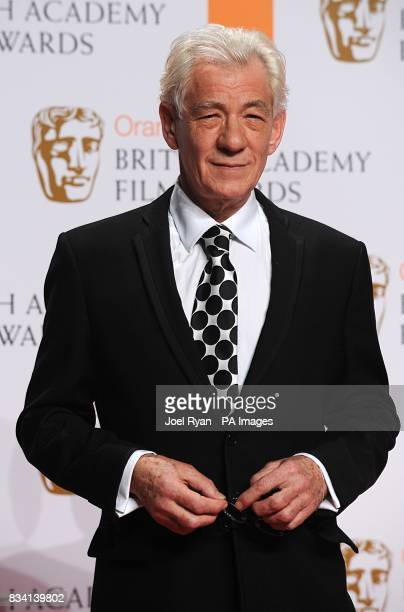 Sir Ian McKellen at the 2008 Orange British Academy Film Awards at the Royal Opera House in Covent Garden central London