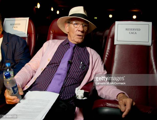 Sir Ian McKellen attends a private screening of short documentary The Academy at Prince Charles Cinema on September 7 2012 in London England