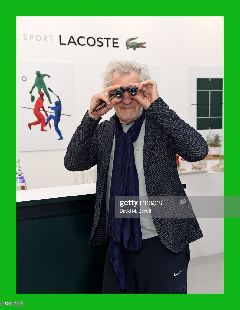 Sir Ian McKellen attends Lacoste VIP Lounge during 2017 ATP World Tour Semi- Finals at The O2 Arena on November 18, 2017 in London, England.