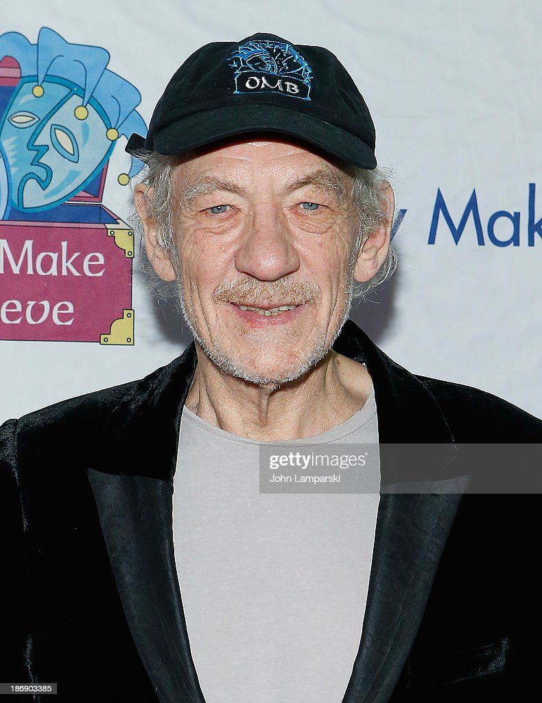 Sir <a gi-track='captionPersonalityLinkClicked' href=/galleries/search?phrase=Ian+McKellen&family=editorial&specificpeople=202983 ng-click='$event.stopPropagation()'>Ian McKellen</a> attends the 14th annual Make Believe On Broadway gala at The Bernard B. Jacobs Theatre on November 4, 2013 in New York City.
