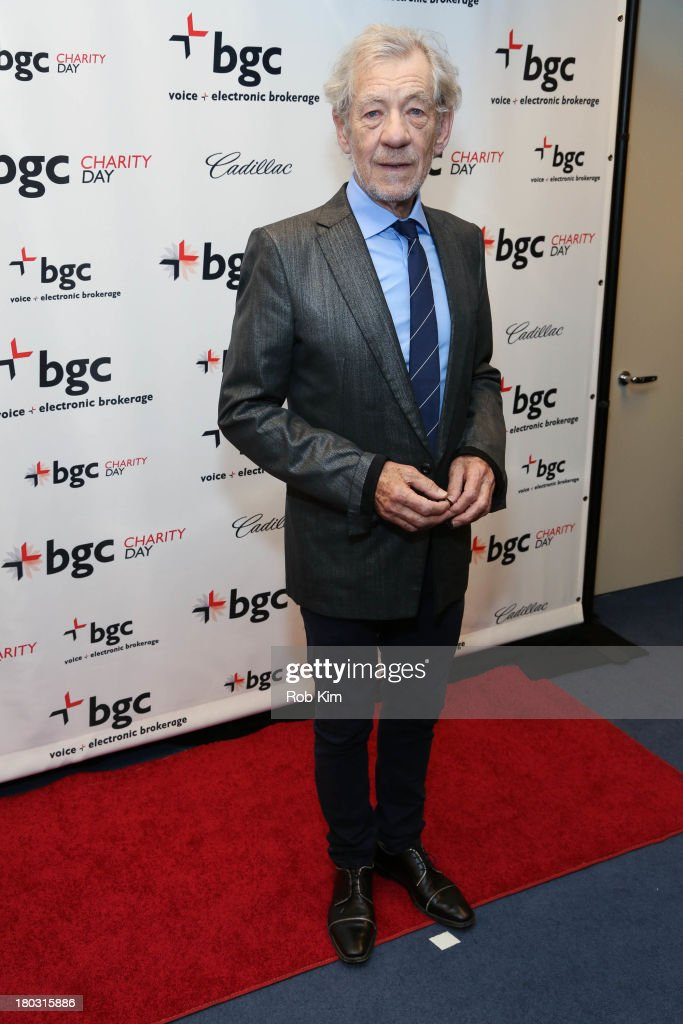 Sir <a gi-track='captionPersonalityLinkClicked' href=/galleries/search?phrase=Ian+McKellen&family=editorial&specificpeople=202983 ng-click='$event.stopPropagation()'>Ian McKellen</a> attends the 2013 Cantor Fitzgerald And BGC Partners Charity Day at BGC Partners on September 11, 2013 in New York City.