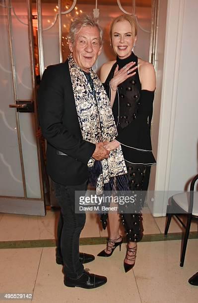 Sir Ian McKellen attends the Harper's Bazaar Women of the Year Awards 2015 at Claridges Hotel on November 3 2015 in London England