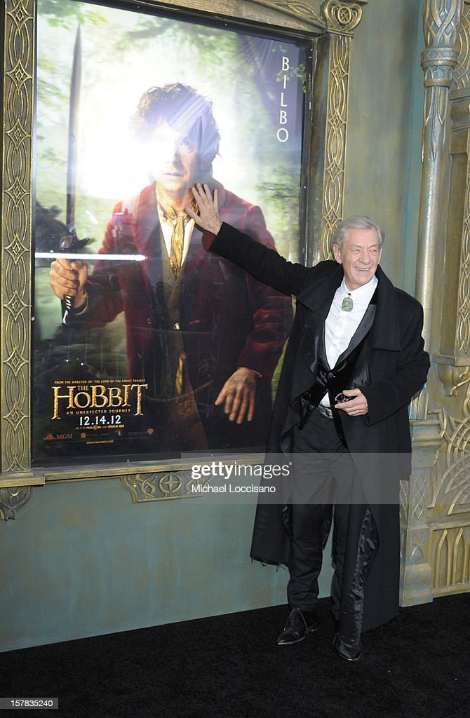 Sir Ian McKellen attends 'The Hobbit: An Unexpected Journey' New York Premiere Benefiting AFI at Ziegfeld Theater on December 6, 2012 in New York City.